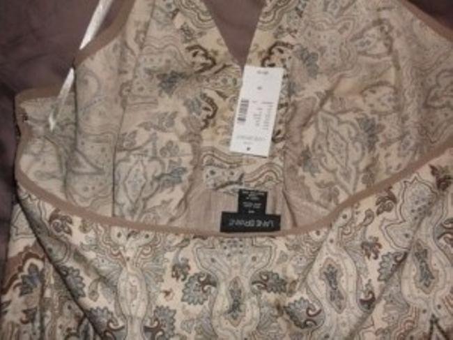 Lane Bryant Blouse New With Tags tan/brown/blue Halter Top