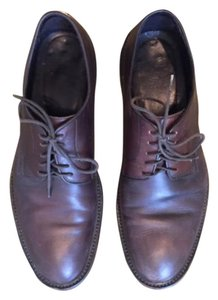 Men's Barneys New York CO-OP Brown Leather Dress Shoes, Made in Italy, Size 9.5M Brown Flats