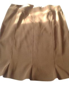 Beaded Drama Mini Skirt Brown