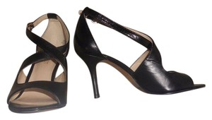 Nine West New Leather Dress Black Sandals