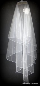 J.L. Johnson Bridals Waterfall Veil