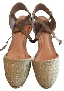 SCHUTZ Gold sparkle Wedges