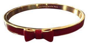 Kate Spade Kate Spade New York Take a Bow Modern Red and Gold Thin Bangle Bracelet