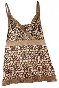 INC International Concepts Silk Top brown multi