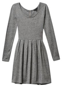 Aritzia short dress Heather Grey #aritzia #talula Zipper Back Long Sleeve on Tradesy
