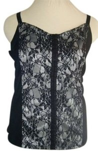 Avenue Top BLACK & WHITE LACE SZ 22 24
