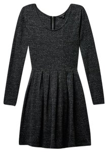 Aritzia short dress Nep Heather Black Talula Lambeth Long Sleeve Zipper on Tradesy