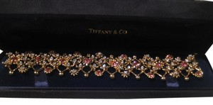 Tiffany & Co. VINTAGE TIFFANY & CO. 18KT WHITE GOLD DIAMOND PINK SAPPHIRE BRACELET