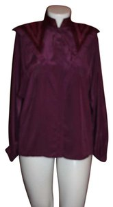 Suzelle Button Down Shirt PURPLE