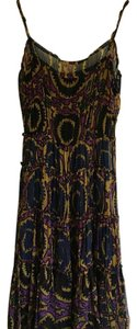 BCBGMAXAZRIA short dress Navy , purple, gold on Tradesy
