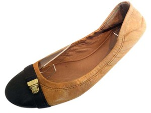 Coach 11 Ballet Leather Tan Flats