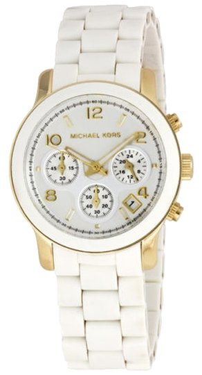 Michael Kors Michael Kors Silver Dial White Polyurethane Ladies Watch