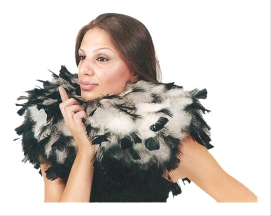 With Love Ari White & Black tipped Feather Neck piece