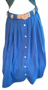Basic Editions Maxi Skirt blue