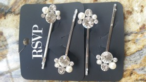 RSVP Rsvp Pearl And Crystal Bridal Bobby Pins