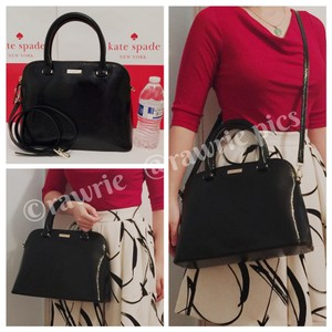 Kate Spade Patent Leather Structured Satchel in black