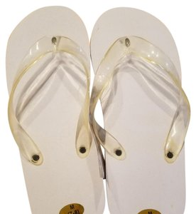 Lillian Rose Black and White Flip Flops Bath Accessory