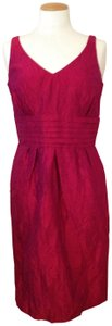 Sara Campbell Silk Classic Raspberry Dress