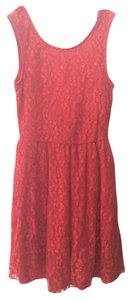 Wet Seal Fit And Flare Low Back Lace Dress