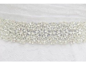 Crystals And Pearls Bridal Sash