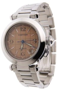 Cartier Cartier Pasha C 2324 Stainless Steel Automatic 35mm Salmon Dial Date Watch