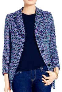 Kate Spade New With Tags Retail $1298 Sold Out Everywhere Multi Color Tweed Blazer