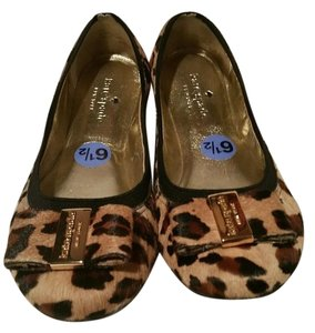 Kate Spade Fur brown leopard animal print Flats