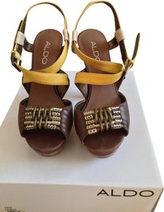 ALDO Wooden Sandals Strappy Sandals Saldals High Heels Platforms