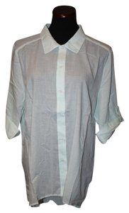 Chico's Trendy Button Down Shirt Pin stripe