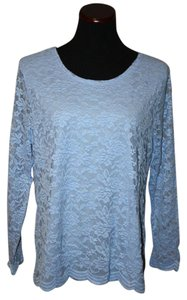 Chico's Trendy Top blue lace