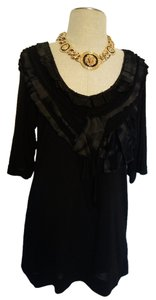 Rachel Roy Chic Sexy V Neck V Neck Sexy Top Black