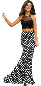 Jovani 2 Piece Polka Dot Mermaid Dress