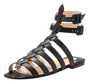 Christian Louboutin Gladiator Louboutin Leather Black Sandals