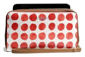 Coach Temporary 10% Off-Universal Case Polka Dot Wristlet/