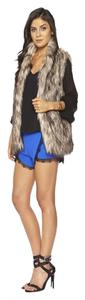 Lovers + Friends Faux Fur And Fur Vest