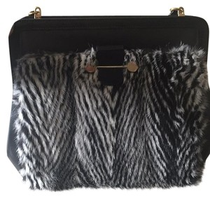 Jason Wu Leather Studded Fur Shoulder Bag