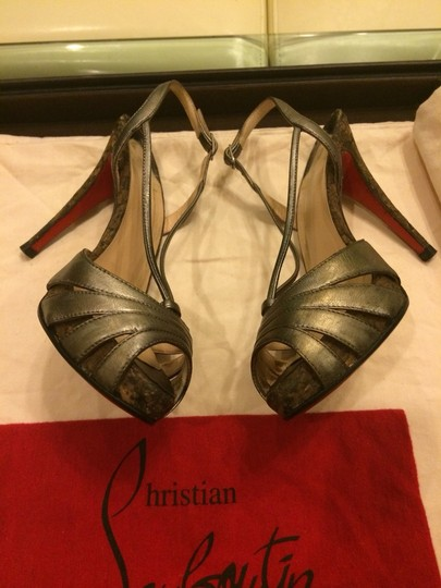 Christian Louboutin Pewter Pumps