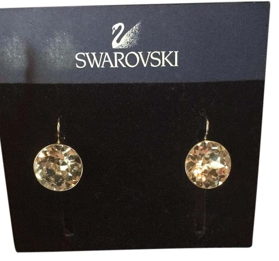 0afa058f7 Swarovski Swarovski Bella pierced clear crystal earrings Image 0 ...