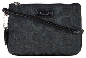 Coach Parker Signature Wristlet in Black