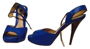 Fendi Royal blue Platforms