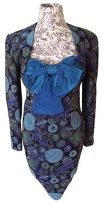 Guy Laroche Vintage Designer Brocade Dress