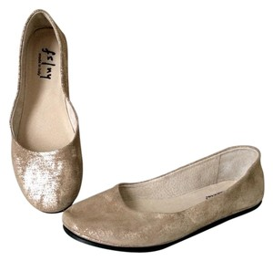 French Sole taupe metallic Flats