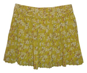 American Eagle Outfitters Mini Skirt Yellow Floral