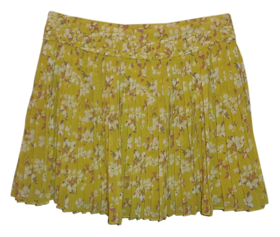 89fd0d76737e9 American Eagle Outfitters Yellow Floral Adorable Skirt Size 0 (XS ...