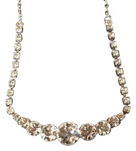 Cache Cache silver-tone clear crystal necklace