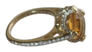 Other New Stunning 4 ct Citrine Ring with 3/4 tcw Diamonds in 14k Gold