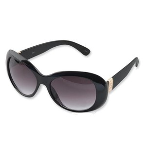 Camrose & Kross Jacqueline Kennedy Black Greek Key Sunglasses