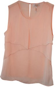 Laundry by Shelli Segal Flowy And Feminine Sleeveless Top apricot