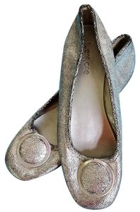 Forever 21 Crackle New Silver Gray Flats