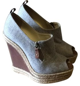 Christian Louboutin Gray Wedges